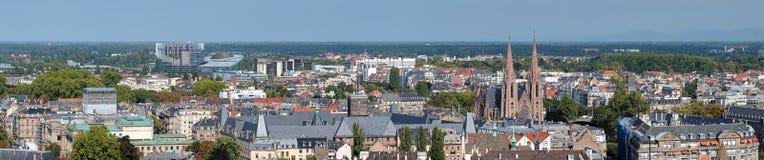 Panorama de Strasbourg, France photo stock