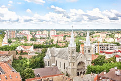 Panorama de Subotica Fotos de archivo libres de regalías