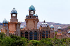 Panorama de Sun City, el palacio de la ciudad perdida, Suráfrica Imagen de archivo libre de regalías