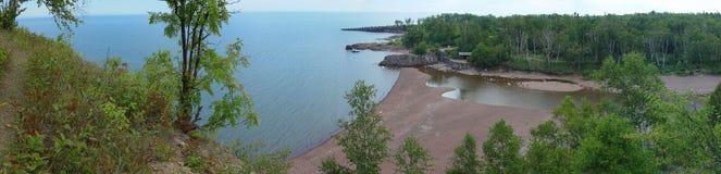 Panorama de supérieur de lac Images libres de droits