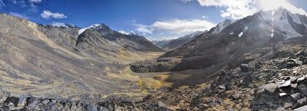 Panorama de Tajiquistão Fotografia de Stock Royalty Free