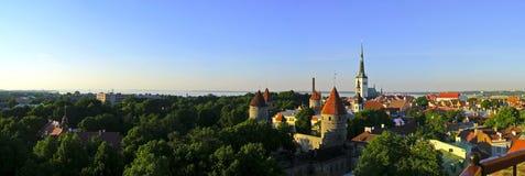 Panorama de Tallin Imagen de archivo libre de regalías