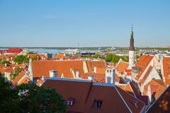 Panorama de Tallinn Fotos de archivo