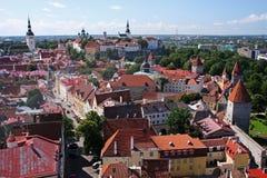 Panorama de Tallinn Fotografia de Stock