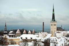 Panorama de Tallinn Foto de Stock