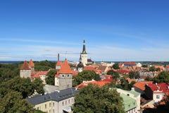 Panorama de Tallinn Foto de archivo