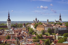Panorama de Tallinn Imagem de Stock Royalty Free