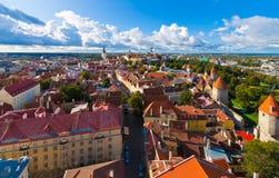Panorama de Tallinn, Estónia foto de stock royalty free