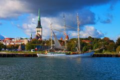 Panorama de Tallinn, Estonia Imagen de archivo