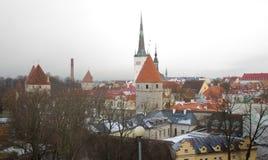 Panorama de Tallinn velho Castelo histórico Tallinn Estónia Foto de Stock Royalty Free