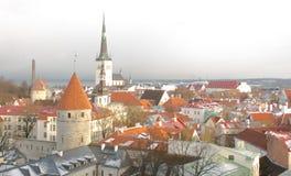 Panorama de Tallinn velho Castelo histórico Tallinn Estónia Fotos de Stock Royalty Free