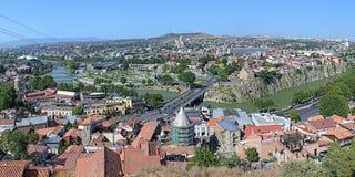 Panorama de Tbilisi, Georgia Fotos de archivo