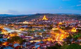 Panorama de Tbilisi, Georgia Imagen de archivo libre de regalías