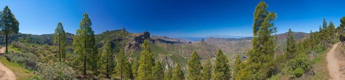 Panorama de Tejeda de la caldera Imágenes de archivo libres de regalías