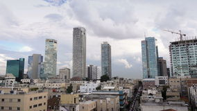 Panorama de Tel Aviv, Israel, Oriente Medio almacen de video
