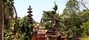 Panorama de temple de Bali dans Ubud, Indonésie Photos stock