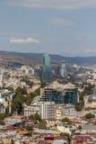 Panorama de Tibilisi, Georgia foto de archivo