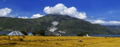 Panorama de Toba do lago. Imagem de Stock