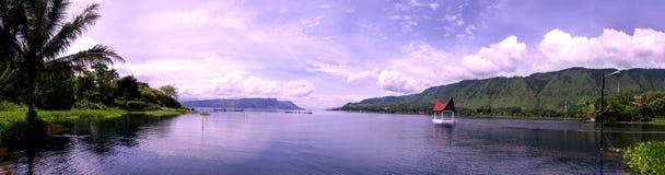 Panorama de Toba do lago. Fotografia de Stock