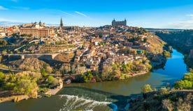 Panorama de Toledo, España Imágenes de archivo libres de regalías