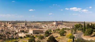 Panorama de Toledo na Espanha Fotos de Stock Royalty Free