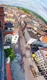 Panorama de Torun, Poland foto de stock