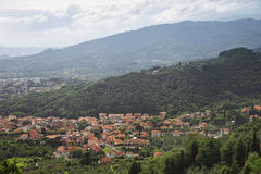 Panorama de Toscana Montecatini Terme, Italia, Europa Imagen de archivo