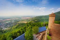 Panorama de tour de château d'Auerbach, Allemagne Photos libres de droits