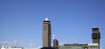 Panorama de tour de contrôle d'aéroport de Narita Tokyo Photos libres de droits