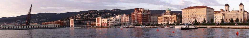 Panorama de Trieste Photographie stock libre de droits
