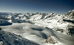 Panorama de Trieves (alpes) fotos de stock royalty free