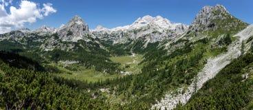 Panorama de Triglav Photos libres de droits