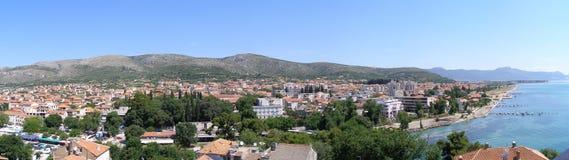 Panorama de Trogir, Croatie Image libre de droits