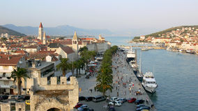 Panorama de Trogir medieval Fotografía de archivo libre de regalías