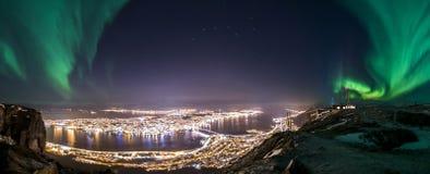 Panorama de Tromsø Imagen de archivo