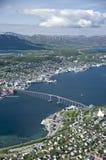 Panorama de Tromso fotografia de stock