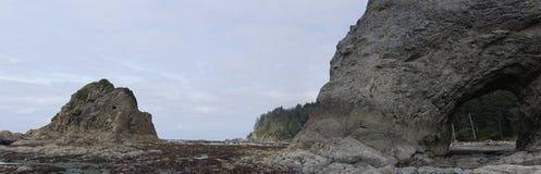 Panorama de Trou-dans-le-mur sur la plage de Rialto photos stock