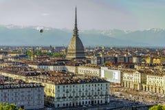 Panorama de Turín Piamonte, Italia Foto de archivo libre de regalías