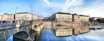 Panorama de Turin Foto de Stock Royalty Free