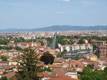 Panorama de Turin Photos stock