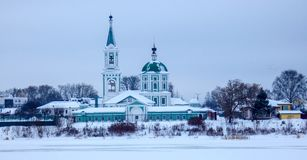 Panorama de Tver, ciudad rusa antigua fotos de archivo libres de regalías