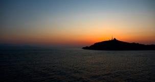 Panorama de um por do sol Fotos de Stock Royalty Free