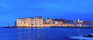 Panorama de uma cidade de Dubrovnik imagem de stock