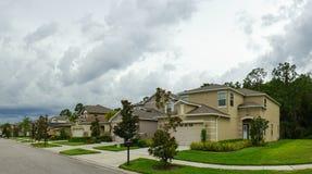 Panorama de uma comunidade em Florida imagens de stock royalty free