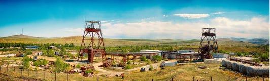 Panorama de uma mina subterrânea abandonada imagem de stock royalty free