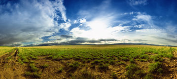 Panorama de un paisaje de Montana Fotos de archivo libres de regalías