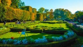 Panorama de un parque hermoso 2019 de la ciudad imágenes de archivo libres de regalías