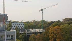 Panorama de una ciudad en Polonia almacen de video