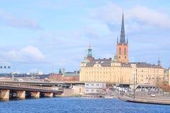 Panorama de una ciudad vieja de Estocolmo, Suecia fotos de archivo libres de regalías