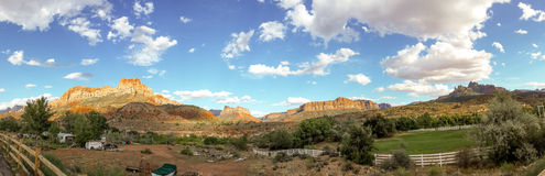 Panorama de Utá do parque nacional de Zion Fotos de Stock Royalty Free